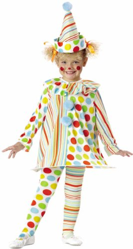 Candy Clown Costume: Toddler's Size 2T-4T