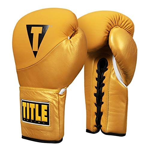 Title Boxing Cyclone Leather Sparring Gloves, Yellow, 16 ()