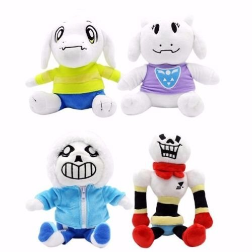Choun Shiryu Costume (Shalleen New 4pcs UNDERTALE Asriel Sans Papyrus Toriel Plush Doll Toy Kids Gift)