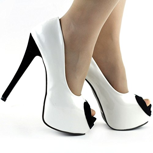 Show Story Two Tone Heart Peep Toe 6