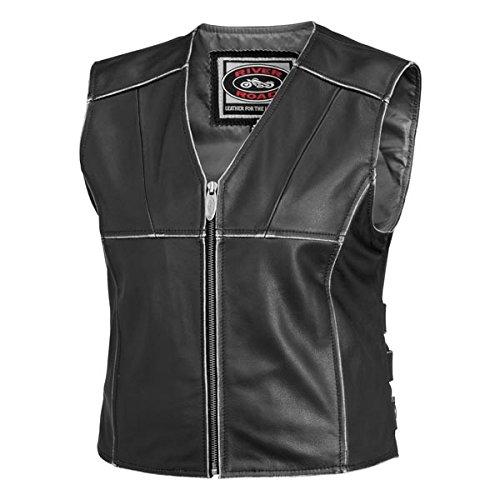 River Road Women's Rambler Leather Vest - Medium/Black