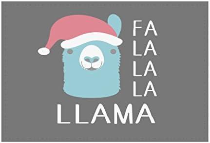 FA LA LA LA Llama Holiday Llama Welcome Mat 18×24 Outdoor Doormat Rug by Moonlight4225