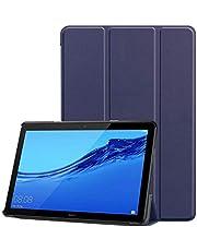 Magnet PU Case For Huawei MediaPad T5 10.0 inch Tablet stand cover for huawei mediapad T5 10 case -Blue
