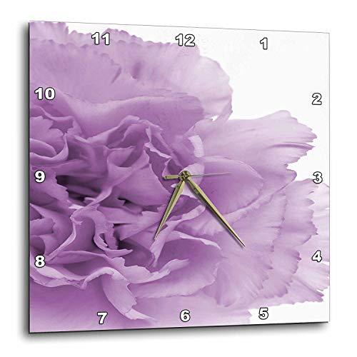 - 3dRose dpp_20615_3 Delicate Purple Grey Flower-Wall Clock, 15 by 15-Inch