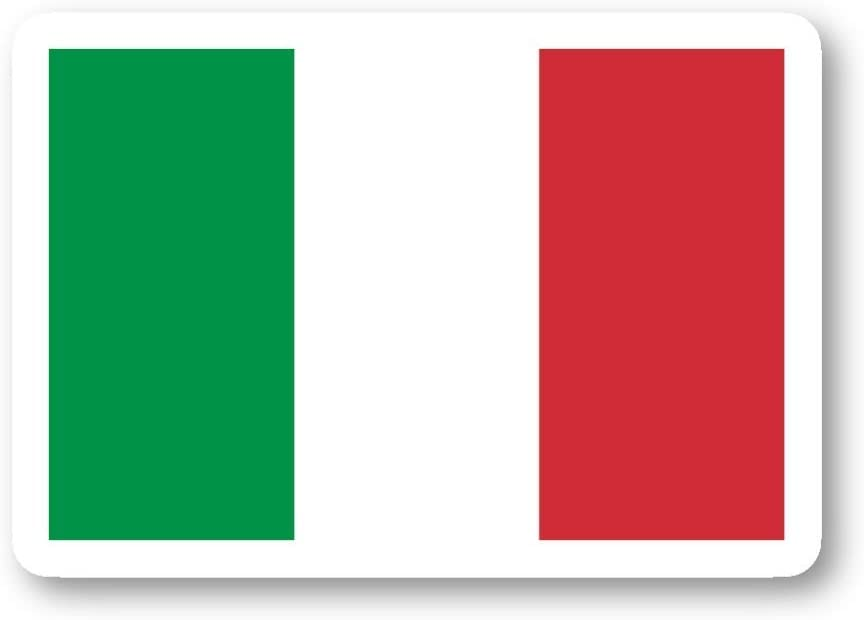 Italy Flag Italian Flag Sticker Flags Stickers - 3 Pack - Set of 2.5, 3 and 4 Inch Laptop Stickers - for Laptop, Phone, Water Bottle (3 Pack) S212462