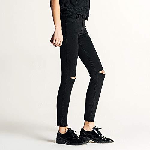 Nero Jeans Elasticizzati Donna Buco Donna A Bassa Femminile Vita Da Mvguihzpo Xs Denim Neri 17Td7wq