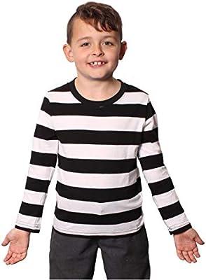I LOVE FANCY DRESS LTD Camisa Rayada Negra Y Blanca con Mangas LONGAS para NIÑOS(S): Amazon.es: Juguetes y juegos