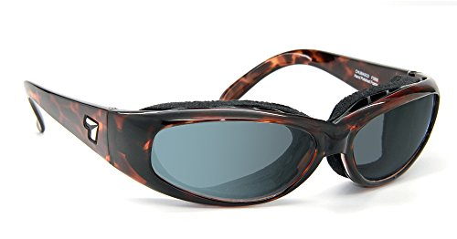 7eye by Panoptx 7eye Chubasco Photochromic Sunglasses, Tortoise Dark Frame, Gray Eclypse Lens, Small/Large