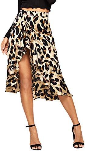 Verdusa Womens Ruffle Leopard Print product image