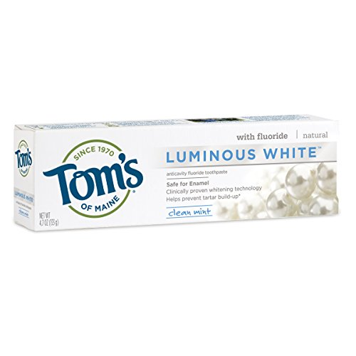 Tom's of Maine Luminous White Natural Toothpaste Clean Mint