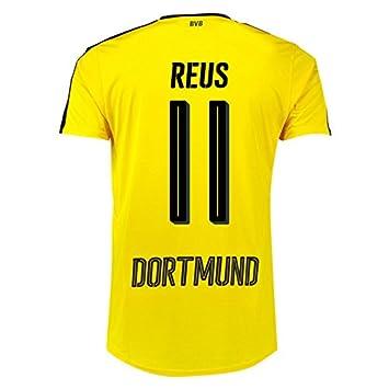 buy popular d2a64 cc855 Puma Kids' BVB Home F6 Replica Football Shirt-Yellow/Black, 7-8 Years