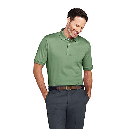 Lands' End Men's Supima Polo Shirt, XXL, Basil ()