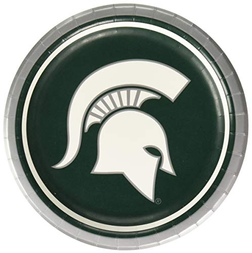 Michigan State Spartans Dessert Paper Plates, 8-Count