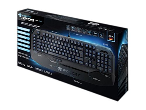 ROCCAT RYOS MK Pro Mechanical Gaming Keyboard with Per-Key Illumination, Black CHERRY MX Key Switch Review