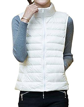 gamme exclusive 2019 meilleures ventes très convoité gamme de Femme Doudoune sans Manche Gilet Ultra Légère Veste Manteau Parka Blouson  Zippée Hiver