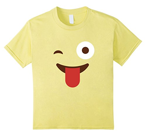 Group Costume Ideas Girls (Kids Emoji Group Costume Idea Shirt - Cheeky Emoji Emoticon 10 Lemon)