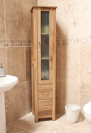 baumhaus mobel oak closed bathroom unit tall amazon co uk kitchen home