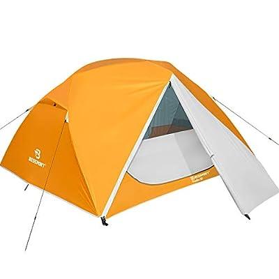 Bessport Camping Zelt 3 Personen Ultraleichte Zelt Wasserdicht 3-6 Saison Zwei Türen Sofortiges Aufstellen für Trekking…