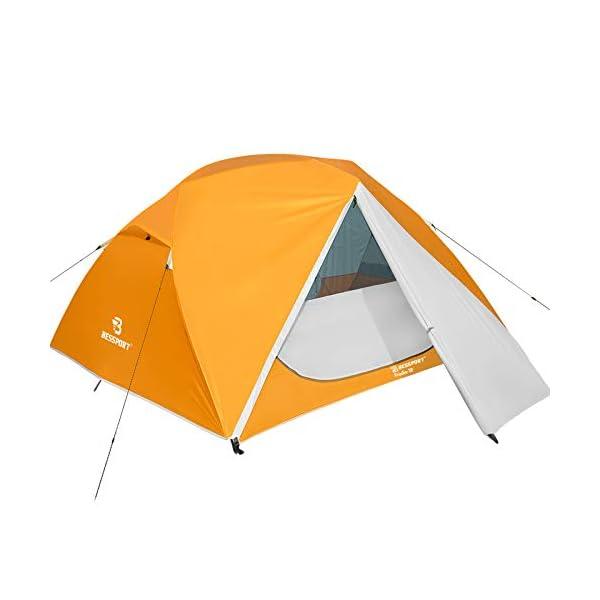 41kUpDoi37L Bessport Camping Zelt 3 Personen Ultraleichte Zelt Wasserdicht 3-6 Saison Zwei Türen Sofortiges Aufstellen für Trekking…