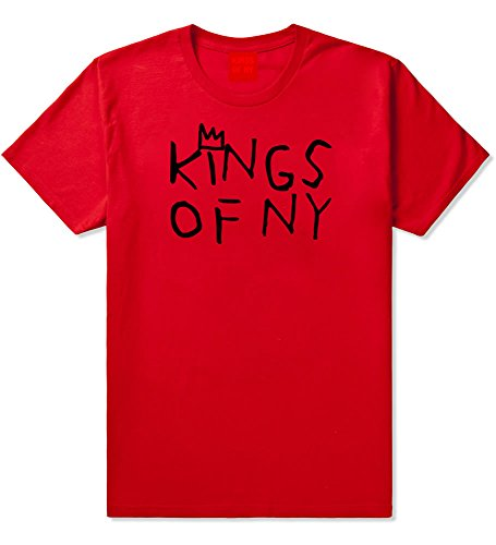 Kings Of NY Crown Basq Art Logo Tee Mens T-Shirt X-Large Red ()