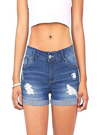acafd4d6a1 conqueror Femme Jeans Trou Détruit Ripped Denim Shorts Taille Haute Hot  Pantalon Short en Jean Shorts Jeans Hot Pants Pantalons De Plage Été:  Amazon.fr: ...