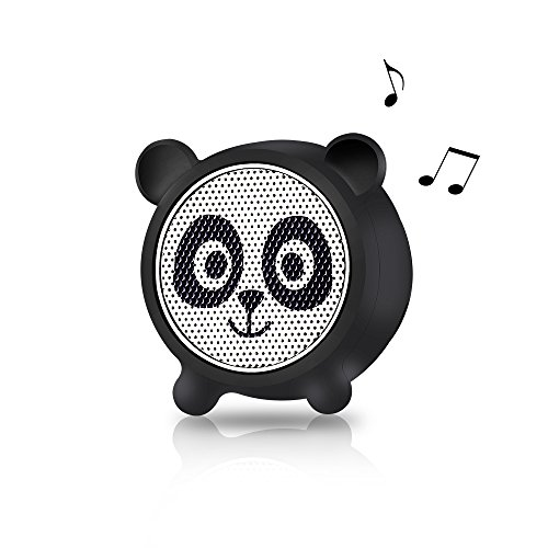 Mini Bluetooth Speaker Aurtec Cute Animal Portable Wireless Outdoor Stereo Audio with Superior Sound and Richer Bass, Remote Selfie Function, Bluetooth 4.2, Handsfree Calling, Panda