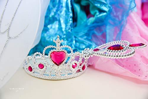 Girls Dress Up Set: Unicorn, Superhero, Angel, Mermaid, Princess - with Storage bin Pink by MMP Living (Image #9)