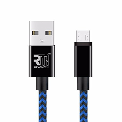 ION Micro USB Charging Cable (Blue/Black) Single 3.3FT High Charging Speed USB 2.0 A Male to Micro Nylon Braided Cords with Aluminum Connectors for Android,Samsung Galaxy Note,Nexus,HTC,LG and more