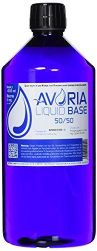 AVORIA – Liquid Base 50/50 zur Herstellung von eigenen Liquids für E-Zigaretten, Vaper und Dampfer | Basis – Made in…