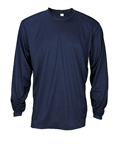 Reebok Men's Athletic Long Sleeve Shirt (Large, Navy) (Rbk Golf)