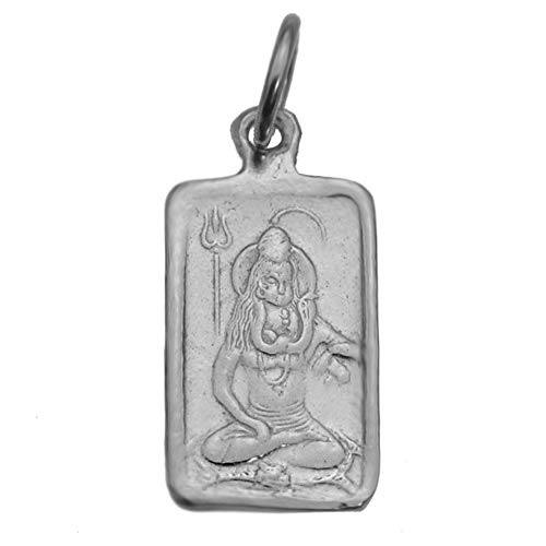 prince of diamonds Real Solid Sterling Silver 925 Small Charm Hindu Lord Shiva Snake OM Aum Jewelry