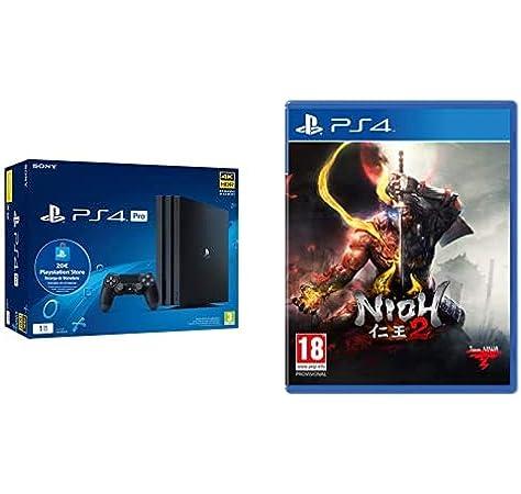 Sony Playstation 4 Pro (PS4) Consola de 1TB + 20 euros Tarjeta Prepago (Edición Exclusiva Amazon) - nuevo chasis G + Nioh 2: Amazon.es: Videojuegos