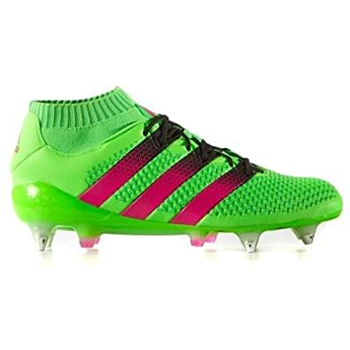 promo code 79cff a97a2 ... release date adidas ace 16.1 primeknit sg chaussures de football homme vert  rose noir 51fc3 1a423