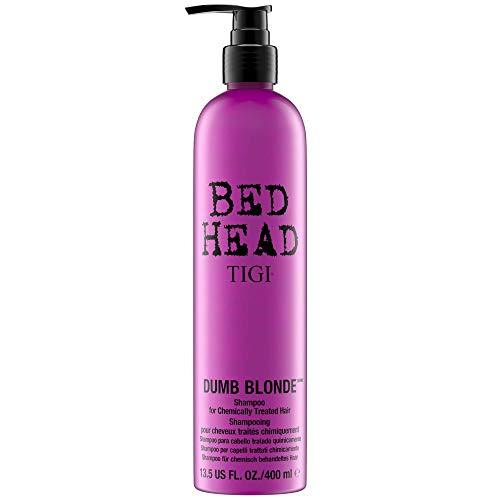 TIGI Bed Head Dumb Blonde Shampoo - Protects & Repairs Chemcially Treated Hair, Restore Moisture, Reduce Frizz, Increase Manageability, Colour Safe, with Keratin & Milk Protein 25.36 Ounce (Pack of 2) (Tigi Bed Blonde Shampoo Dumb Head)