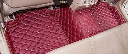 FidgetKute All-Weather Floor Mats FloorLiner Fit for Lexus GX470 2004-2009 F Red Wine