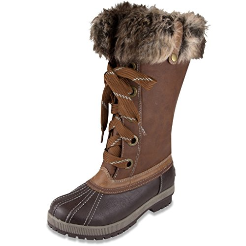 London Fog Womens Melton Cold Weather Snow Boot