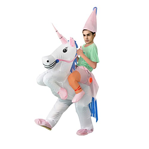 Chorade Halloween Inflatable Unicorn Costumes by Adult Fancy Costume Riding Unicorn (Man In A Unicorn Costume)