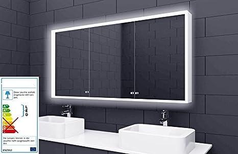 Sun armadietto a specchio da bagno led illuminazione presa su