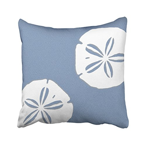 KJONG Denim Blue Sand Dollars Nautical Zippered Pillow Cover,16X16 inch Square Decorative Throw Pillow Case Fashion Style Cushion Covers(Two Sides Print)