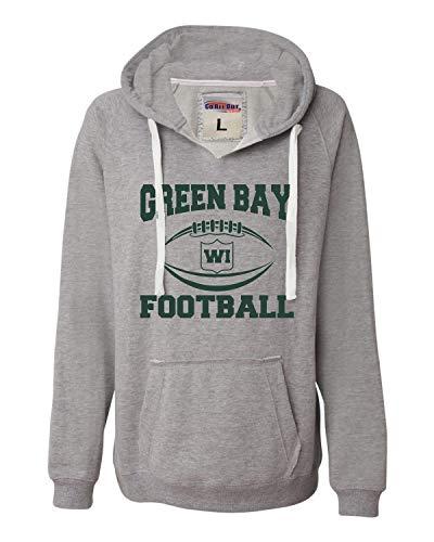 Medium Oxford Womens Green Bay Football Deluxe Soft Hoodie