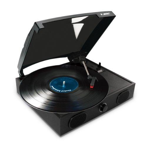 Vibe Sound Vs 2002 Spk Usb Turntable With Built In Speakers