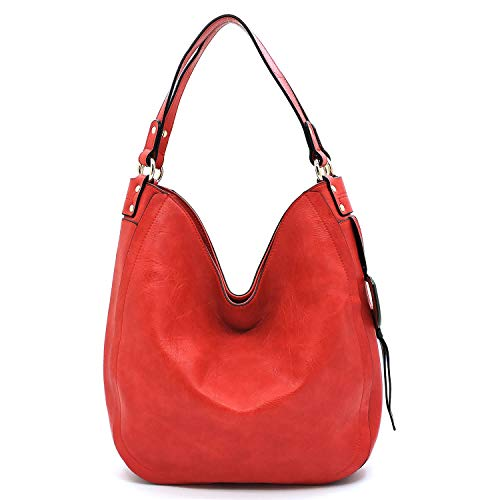 D Shoulder Accent Bagblaze Red Hobo Bag Ring Side p88xq5