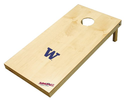 Wild Sports NCAA College Washington Huskies 2' x 4' Authentic Cornhole Game Set by Wild Sales