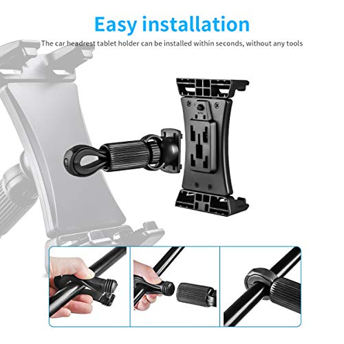 Moutik Bike Adjustable Tablet Stand:Tationary Bicycle Recumbent Indoor Exercise Rotatable Treadmill Mount Car Phone Holder Compatiable with iPad / iPhone Cellphone Kindle
