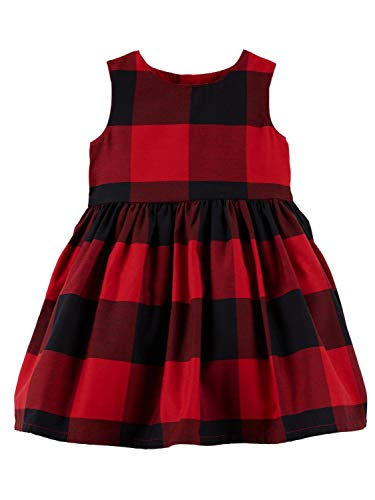 Baby Holiday Dresses (Carter's Baby Girls Red Buffalo Check Holiday Dress - 9)