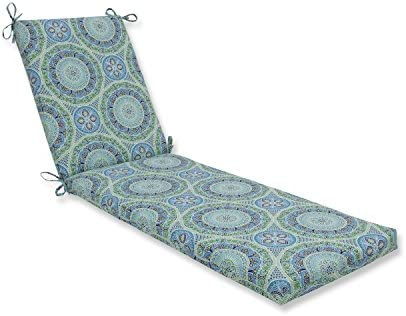 Pillow Perfect Outdoor Indoor Delancey Lagoon Chaise Lounge Cushion, 80 x 23 , Blue