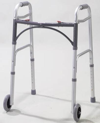 Easy-Release 2 Button Walker Youth w/5 Wheels by Marble Medical