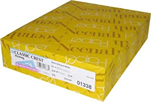 """Classic Crest Solar White 80# Cover 8.5""""x11"""" 250/pack"""