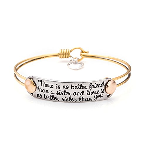 UNQJRY Friendship Bangle Bracelet for Sister Handstamped Personalized Birthday Gifts Jewellery
