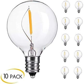 Brightown Clear Globe G40 Screw Base Led Light Bulbs Pack